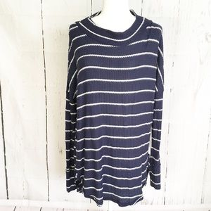 NWT Caslon Striped Thermal Top